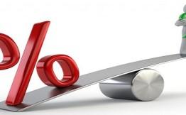 Средняя ставка максимальная ставка по депозитам упала на 4% с начала года